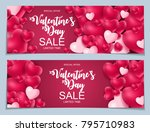 valentines day sale  discont... | Shutterstock .eps vector #795710983