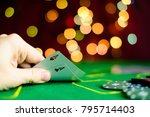 concept of casino  playing... | Shutterstock . vector #795714403