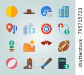 icon set about united states.... | Shutterstock .eps vector #795715723