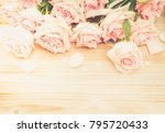 pink blooming valentines day... | Shutterstock . vector #795720433