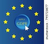 gdpr   general data protection... | Shutterstock .eps vector #795723877