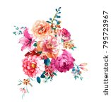flowers carry the scent of... | Shutterstock . vector #795723967