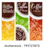 vector coffee banners with...   Shutterstock .eps vector #795727873