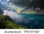 beautiful landscape in... | Shutterstock . vector #795737587