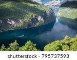 beautiful landscape in... | Shutterstock . vector #795737593