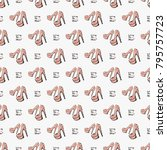 fashion pattern with do not cry ... | Shutterstock .eps vector #795757723