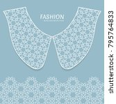 vector fashion background.... | Shutterstock .eps vector #795764833