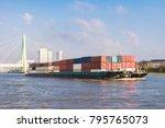 inland shipping transport on... | Shutterstock . vector #795765073