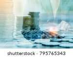 finance and investment concept... | Shutterstock . vector #795765343