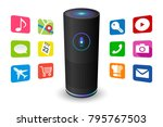 voice control user interface... | Shutterstock .eps vector #795767503