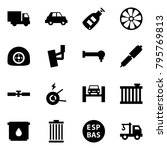 origami style icon set   car... | Shutterstock .eps vector #795769813