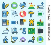 icons set about travel. with... | Shutterstock .eps vector #795770947