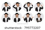 jew vector character isolated... | Shutterstock .eps vector #795772207