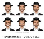 jew vector character isolated... | Shutterstock .eps vector #795774163