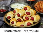 homemade pig in a blanket   hot ... | Shutterstock . vector #795790333