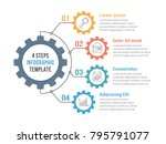infographic template with gear... | Shutterstock .eps vector #795791077