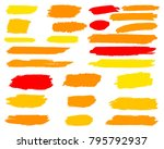 collection of hand drawn golden ... | Shutterstock .eps vector #795792937