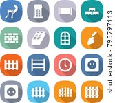 flat vector icon set   greate... | Shutterstock .eps vector #795797113