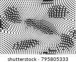 abstract halftone dotted grunge ... | Shutterstock .eps vector #795805333