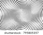 abstract halftone dotted grunge ... | Shutterstock .eps vector #795805357