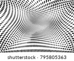 abstract halftone dotted grunge ... | Shutterstock .eps vector #795805363