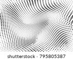 abstract halftone dotted grunge ... | Shutterstock .eps vector #795805387