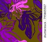 Bright Botanical Purple...