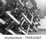 dark concrete empty room....   Shutterstock . vector #795813367