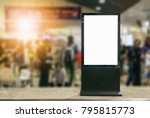 blank billboard posters in the... | Shutterstock . vector #795815773