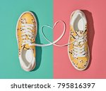 fashion trendy trainers with... | Shutterstock . vector #795816397