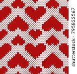 valentine jacquard seamless... | Shutterstock .eps vector #795823567