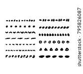 template for pattern brushes.... | Shutterstock .eps vector #795826087