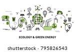 modern flat thin line design... | Shutterstock .eps vector #795826543