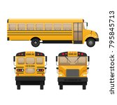 yellow classic school children... | Shutterstock .eps vector #795845713