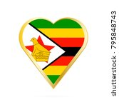 flag of zimbabwe in the shape... | Shutterstock .eps vector #795848743