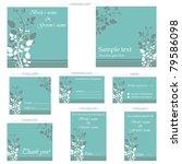illustration of set of wedding... | Shutterstock .eps vector #79586098