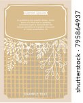 vintage creative card template... | Shutterstock .eps vector #795864937