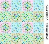 a seamless pattern for babies.... | Shutterstock .eps vector #795865993