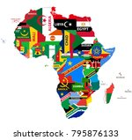 vector political map of africa... | Shutterstock .eps vector #795876133