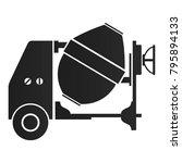 concrete mixer silhouette on a... | Shutterstock .eps vector #795894133