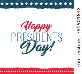 happy presidents day label.... | Shutterstock .eps vector #795901843