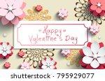 valentine's day design ... | Shutterstock .eps vector #795929077