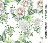 bright seamless pattern with...   Shutterstock . vector #795936703