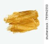 golden grunge smudge. raster... | Shutterstock . vector #795942553