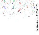 colorful bright confetti... | Shutterstock .eps vector #795946903