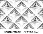 abstract black and white... | Shutterstock .eps vector #795956467