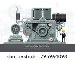 factory industrial machine...   Shutterstock .eps vector #795964093