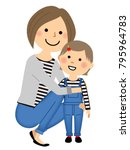 mothers and daughters in... | Shutterstock .eps vector #795964783