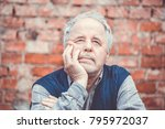 portrait of senior man outside... | Shutterstock . vector #795972037