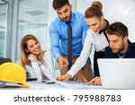young team of business people... | Shutterstock . vector #795988783